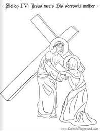 stations cross catholic coloring sheets fourteen pages