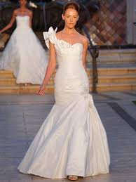 ruffled one shoulder pleaded train blue by enzoani bridal gown