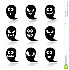 scary ghost design halloween character icons stock vector image