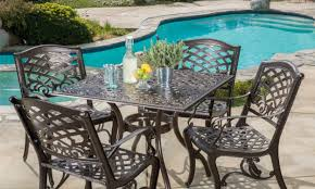 Turquoise Patio Furniture by How To Choose The Best Metal Patio Set Overstock Com