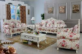 sofa flower print dxy canada baroque style furniture sofa sets wood crafts flower