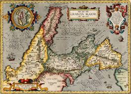 Map Of Ancient Greece Magna Graecia 800 200 Bc Ancient Greece In Italy 1595 Map