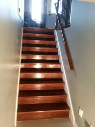 Mahogany Banister Red Oak Railing And Stairs Stained Red Mahogany Www