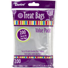 treat bags clear treat bags 3 x 3 75 200 pack co uk kitchen home