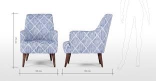 Diamond Armchair Molly Armchair Diamond Stripe Blue Made Com