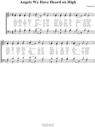 traditional carol sheet downloads at musicnotes