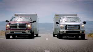 dodge ram vs f250 2015 ford f 150 towing test vs ram 1500 chevy silverado