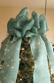 christmas bows for sale teal blue burlap christmas tree topper bow rustic topper shabby