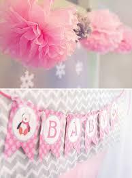Winter Wonderland Baby Shower Cozy Pink Penguin Winter Wonderland Baby Shower Hostess With