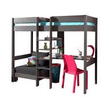 lit mezzanine canapé lit mezzanine lena avec canapé lit taupe acheter en ligne emob