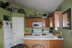 kitchen paint colors with oak cabinets and white appliances ideas