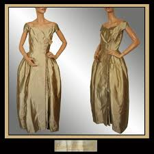 vintage couturier 40s bianca gusmaroli evening gown 1940s