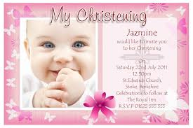 glamorous sample christening invitation card 95 in online indian