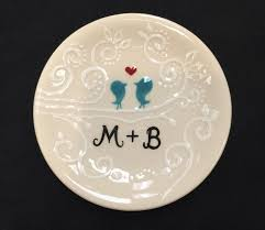 personalized ceramic wedding plates engagement wedding gift personalized painted ceramic