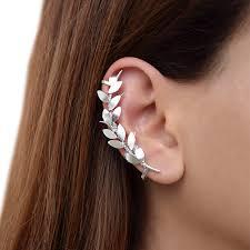 ear climber earring sterling silver ear cuff earring statement earring cuff ear
