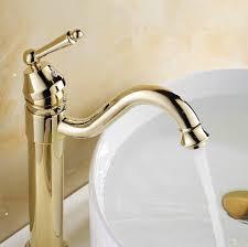bathroom faucet gold single handle single hole antique basin