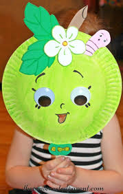 paper plate mask inspired by shopkins green apple blossom kid u0027s
