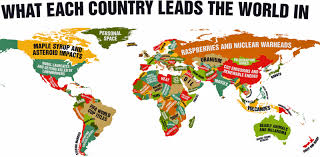 World Map Cartoon by Map What Every Country Leads The World In Business Insider