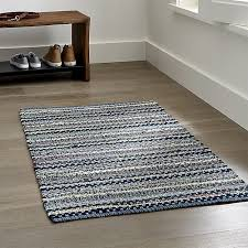 Crate And Barrel Rug Pinstripe Indigo Blue Rug Crate And Barrel