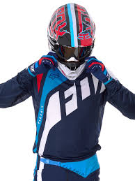 fox motocross gear nz fox navy 2017 flexair seca mx jersey fox freestylextreme