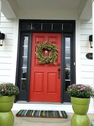 enchanting dark red color for front door pictures best