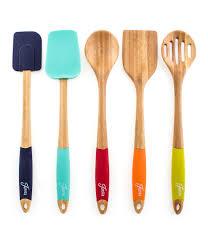 fiesta 5 piece bamboo u0026 silicone utensil set dillards
