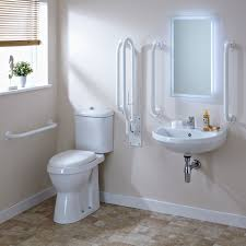 premier white doc m pack disabled bathroom toilet basin and grab