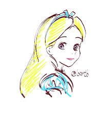 alice in wonderland disney sketch by loartlo tatoo pinterest
