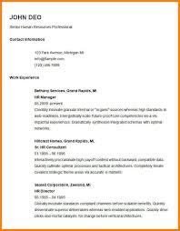 Hr Professional Resume Sample 5 Basic Resume Layout Examples Cashier Resumes