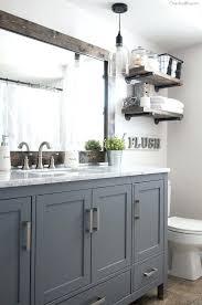 painting bathroom vanity ideas gray bathroom cabinet goodbye pine cabinets neutral bathroom grey