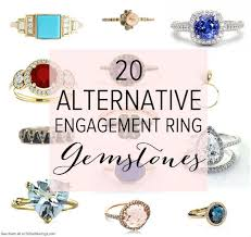gemstone wedding rings 20 diamond alternative gemstones for engagement rings