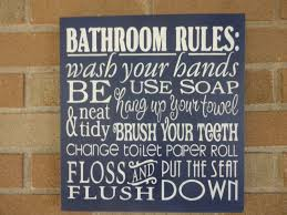 Navy Bathroom Decor by Bathroom Decor Bathroom Rules Sign Home Decor Bathroom
