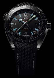 omega seamaster planet ocean gmt deep black watches in ceramic