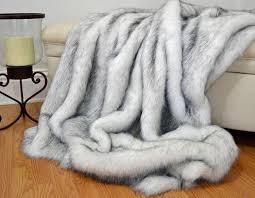 Faux Fur Throw Grey Faux Fur Throw Blanket White Husky Faux Fur Fake Fur Blanket
