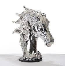 modrest sz0002 modern silver horse head sculpture accessories
