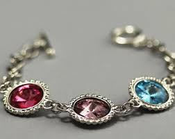 bracelets with birthstones personalized birthstone mothers bracelet birthstone