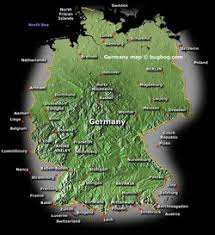geographical map of germany about germany germany