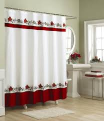 simple 70 black white red bathroom accessories inspiration of country christmas fabric shower curtains