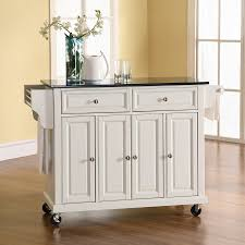 crosley kitchen islands shop crosley furniture white craftsman kitchen island at lowes com
