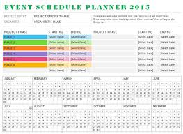 Free Event Planner Template by Event Schedule Planner Template