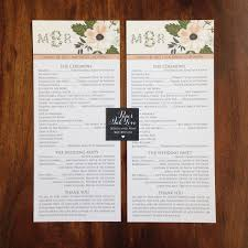 where to print wedding programs print sample wedding programs