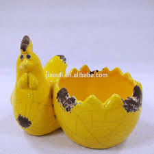 Animal Planter by Animal Planters Ceramic Rooster Planter Pot With Yellow Orange
