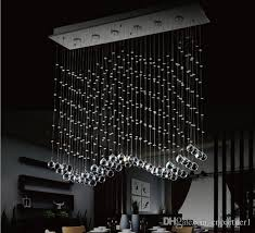 Light Crystal Chandelier Luxury Led 6 Light Crystal Wave Chandelier Modern Style Curtain