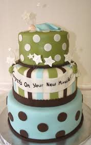 baby shower cake baby boy blue green chocolate brown