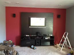 living room with red accents gray bedroom with red accent wall glif org