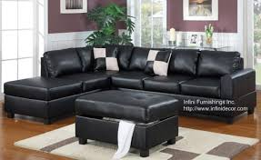 Black Sofa Sectional Black Sectional Leather Sofa Vg 77 Black Leather Sectional