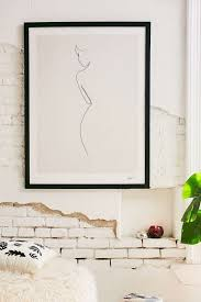 wall stickers glorious quibe one line nude art print urban outfitters