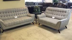 natalia 503771 503774 tufted grey sofa u0026 loveseat youtube