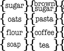 kitchen canister labels canister labels etsy