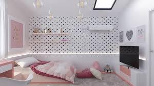 chambre fille blanche design interieur chambre fille blanche papier peint triangles